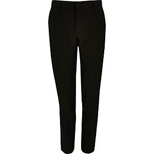 Black super skinny suit pants