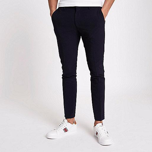 Pantalon de costume super skinny bleu marine