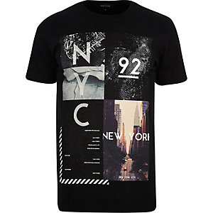 Black NYC print t-shirt