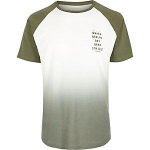Khaki faded raglan t-shirt