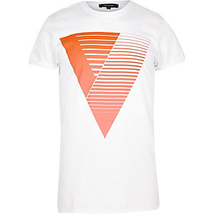 Orange triangle print t-shirt