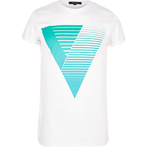 Blue triangle print t-shirt