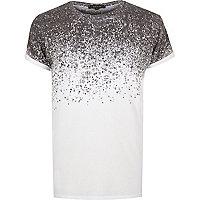 Weißes T-Shirt mit Muster