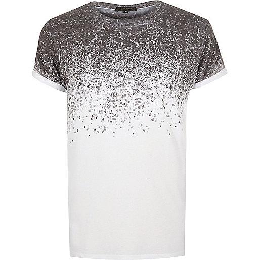 T-shirt blanc à éclaboussures