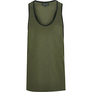Dark green muscle back tank
