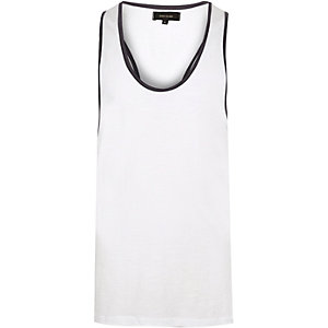 White muscle back vest