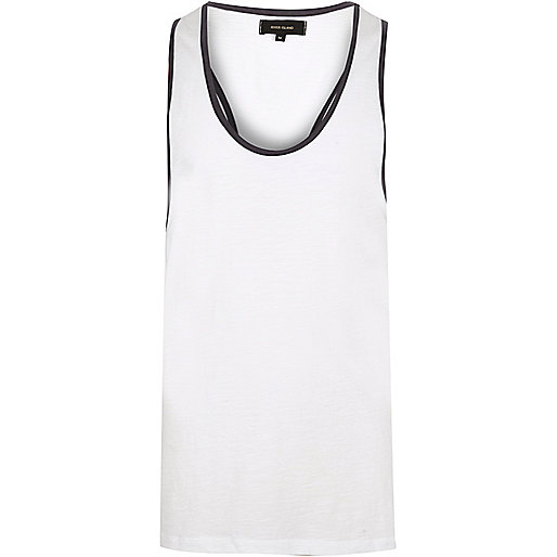 White muscle back tank