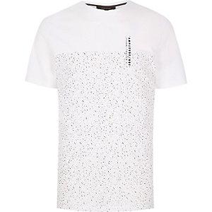 White black print t-shirt