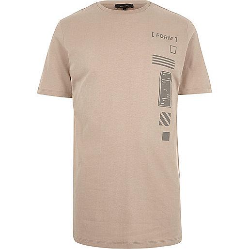 Light brown graphic print t-shirt