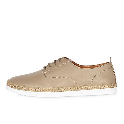 Light brown espadrille shoes