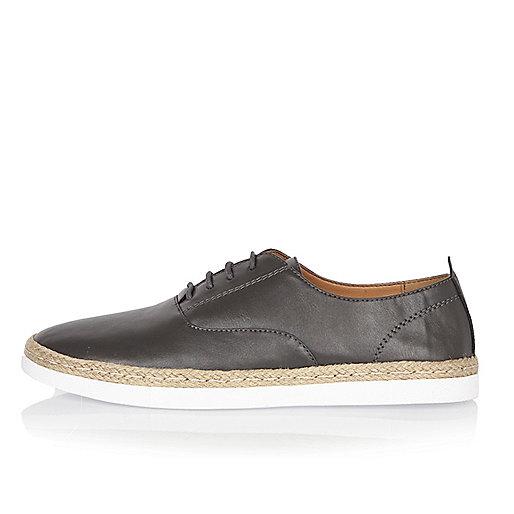 Dark grey espadrille shoes
