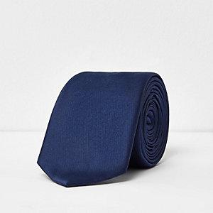 Blue smart silky tie