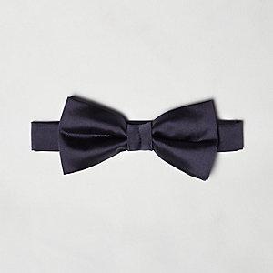 Purple silky bow tie