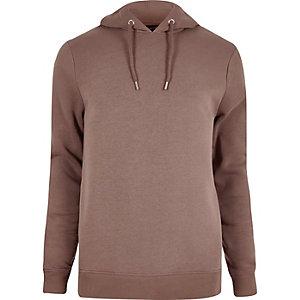 Dark pink cotton hoodie