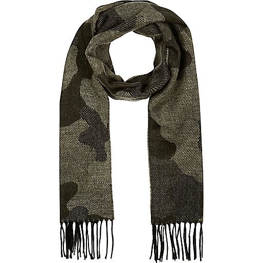Green camo scarf