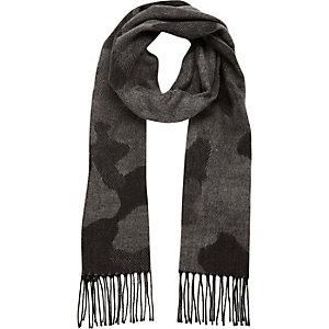 Écharpe camouflage grise