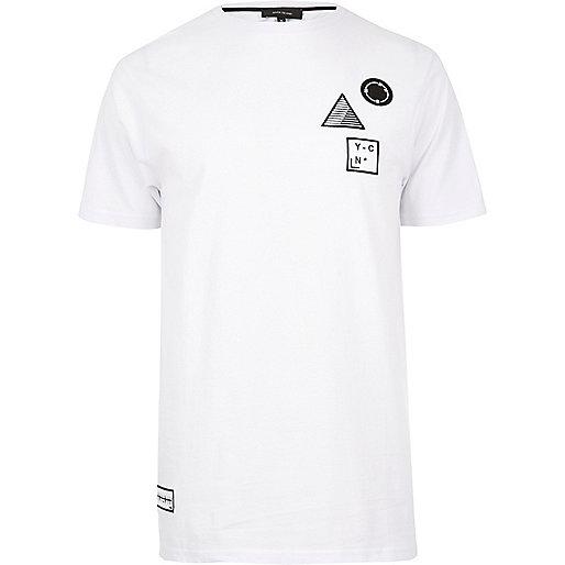 White badge T-shirt