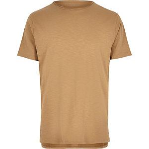 Light brown crew neck t-shirt
