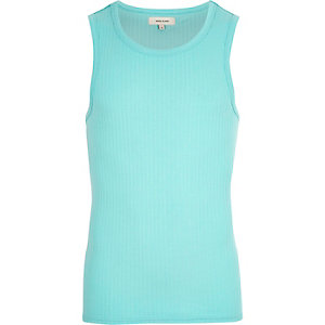 Light green ribbed tank