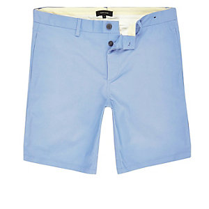 Light blue straight leg bermuda shorts