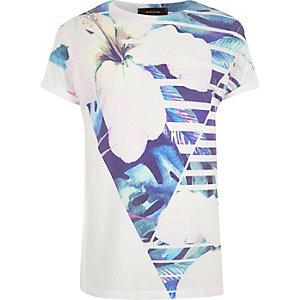 White floral print T-shirt