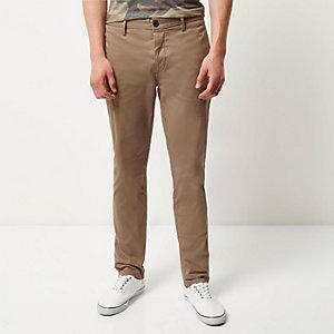 Light brown slim chino pants