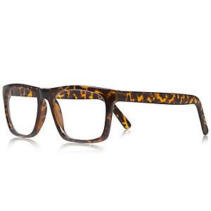 Brown tortoise shell glasses