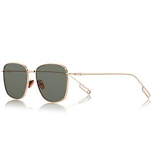 Gold tone tinted sunglasses