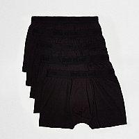 Black tonal branded trunks multipack