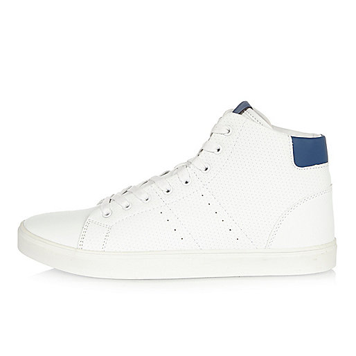 White perforated hi tops