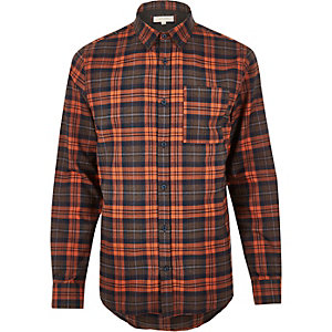 Orange checked shirt