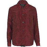 dark red coach jacket