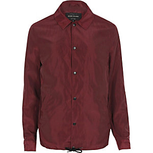 dark red coach jacket