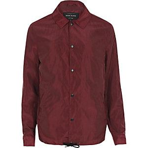 veste de coach rouge foncé