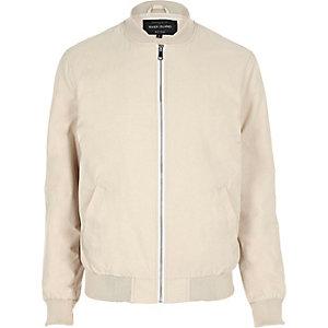 Ecru bomber jacket