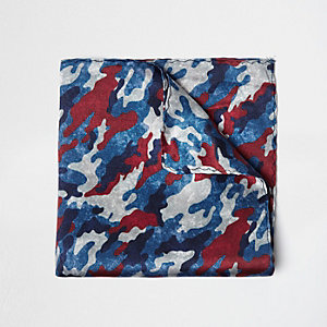 Blue camo pocket square