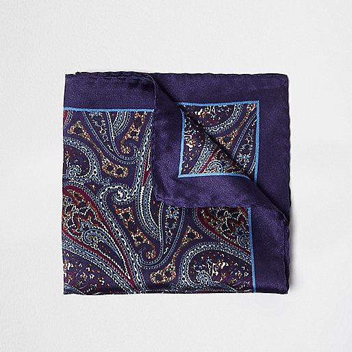 Pochette imprimé cachemire violette