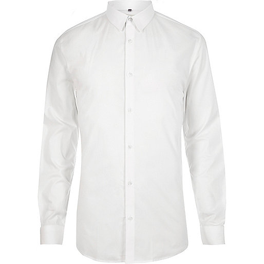 Chemise ajustée blanche