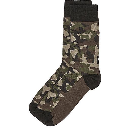 Green camo socks