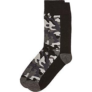 Black camo socks