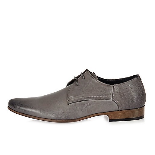 Grey smart derby shoes