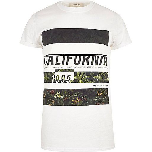White California print T-shirt