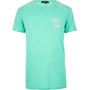 Turquoise print Bermuda t-shirt
