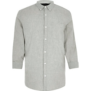 Grey seersucker shirt