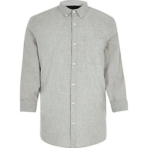 Grey seersucker shirt