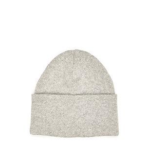 Grey chunky knit beanie