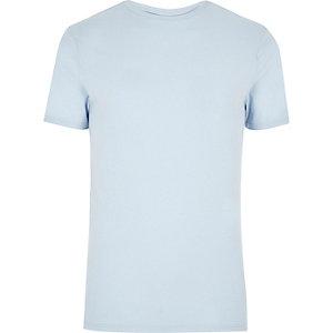 Light blue muscle fit t-shirt