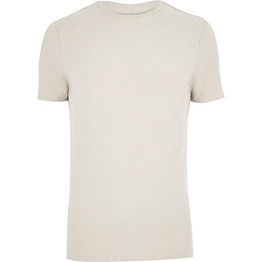T-shirt écru coupe ajustée