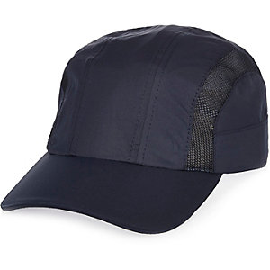 Navy mesh detail cap