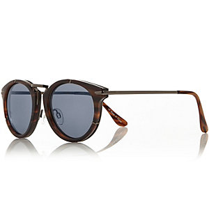 Brown metallic retro sunglasses